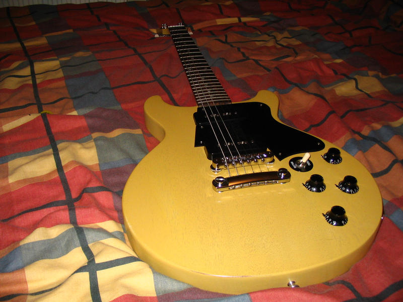 Gibson LP Double Cutaway Faded owners   stand up and be